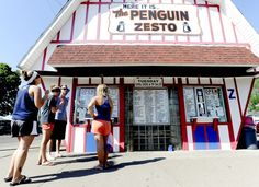 Kaitlyn Clark, Kelsey Thoeny, Kevin Black and Kimberly Shipe get ice cream Tuesday, May 22, 2012, at the Penguin Zesto.  The group had been canoeing on East Lake Winona this afternoon, and decided to get ice cream after Black offered to pay. (Joe Ahlquist/Winona Daily News)
