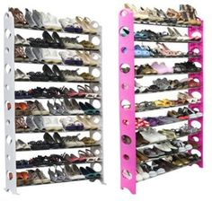 Ten-Tier Shoe Rack with capacity for 50 Pairs! $24.99 @ dealsplus.com