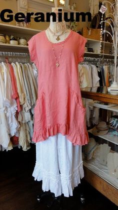 Hearts Desire Tea Dress Geranium Linen