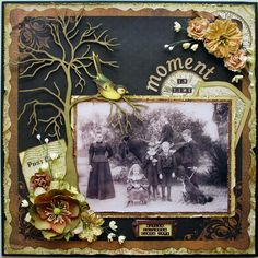 A moment in time - Scrapbook vintage layout