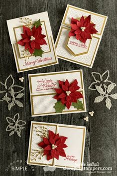 Homemade Christmas Cards, Handmade Christmas Gifts, Christmas Cards To Make, Xmas Cards, Holiday Cards, Christmas Crafts, Christmas Ornaments, Merry Christmas, Christmas Poinsettia