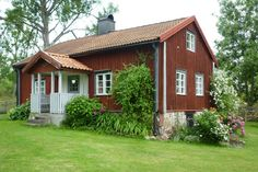 .~*~. Nordic Home, Scandinavian Home, Home Focus, Sweden House, Red Houses, House In Nature, Small Buildings, Cottage Interiors, Cabins In The Woods