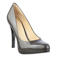 "Pointy toe classic leather pump with low cut vamp. 3 1/2"" heel with a 1/2"" platform"