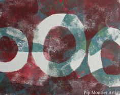 monotype print from the gelli plate