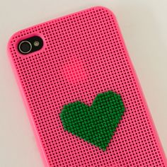heart stitched iphone case