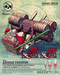 leg exercise: santa leg press bands