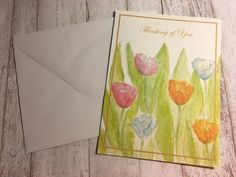 1PC. THINKING OF YOU CARD / FLOWERS CARD  | eBay