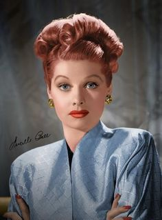 Vintage hair inspiration: Lucille Ball on http://www.queensofvintage.com  I Love Lucy