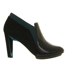 United Nude Lola High Heel Ankle Boot Black Petrol - Ankle Boots