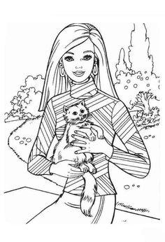 Barbie coloring pages images of bones ~ Barbie Doll Riding Horse Coloring Page | Horse coloring ...