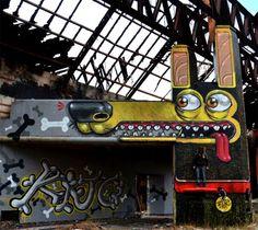 street art par mister thoms 4   Street Art par Mister Thoms   street art photo Mister Thoms image cartoon