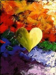 heart paintings - Buscar con Google
