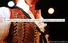 Enjolras - Les Mis - Costumes- the sexiest waistcoat ever put on stage!!!!