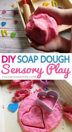 Homemade Soap Dough Recipe for Sensory Play This homemade soap dough is so funny. And it's so easy to do! What a great idea for Sensory Play! Fun Activities For Kids, Diy Crafts For Kids, Fun Crafts, Eyfs Activities, Daycare Crafts, Kids Fun, Soap Recipes, Dough Recipe, Home Made Soap