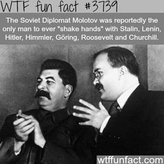 The only man to shake hands with Hitler, Stalin, Roosevelt and Churchill - WTF fun facts