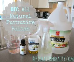 DIY: All Natural Furniture Polish Will save lots of money a year!