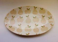 ken eardley:oval platter - apple & pear design