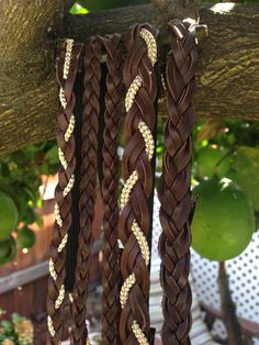 Brown+Leather+Braid+Headband++Boho+Headband++by+InADreamBoutique,+$9.00