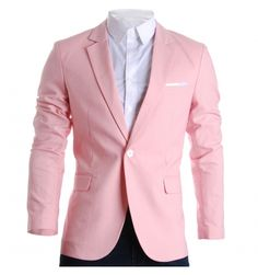 Mens Slim Fit Suits Casual Solid Lightweight Blazer Jackets One Button Flap Pockets Casual Blazer, Sharp Dressed Man, Well Dressed Men, Designer Clothes For Men, Designer Clothing, Uk Fashion, Fashion Suits, Street Fashion, Fashion Ideas