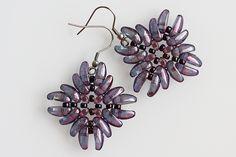 Shield earrings - free project from Preciosa Ornela