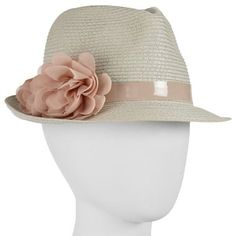Straw Fedora w/ Patent Band - jcpenney $14