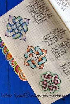 Key to Drawing Celtic Knots! Made easy! In my calendar, Documented Life Journal, I am including keys I find or receive. Keys are the symbol of 2014 for me. They open things. My mind is opening up to Celtic knots. I've always been drawn to them and have even painstakingly drawn them, but since I watched David Nicholls how to draw Celtic Knot videos, I feel like the door to them has been unlocked. I even see the reference books I have on Celtic Knots in a completely new way, a way that makes…
