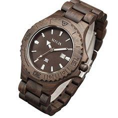 XLORDX Holzuhr Schwarz Bambus Datum Armbanduhr Herrenuhr aus Holz Freund Ehemann Geschenk Gift Watch - http://uhr.haus/xlordx/xlordx-holzuhr-schwarz-bambus-datum-armbanduhr