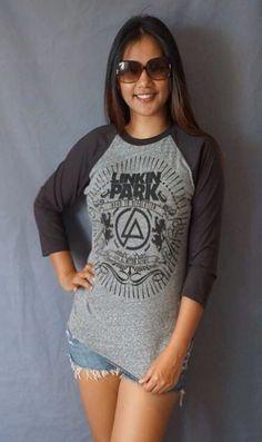 Linkin Park  Baseball White T Shirt Men Women Long Sleeve Tshirt Jersey Raglan Long Sleeve T Shirts Unisex Size M L on Etsy, ฿561.22
