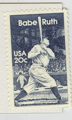 BABE RUTH 20 CENT POSTAGE STAMP