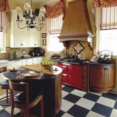 RED STOVE OVEN KITCHEN Design, Pictures, Remodel, Decor and Ideas - page 3