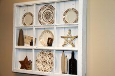 Shelf made from window pane