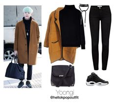 """""""Yoongi airport outfit (3)"""" by hellokpopoutfit ❤ liked on Polyvore featuring Frame and Alexander Wang"""