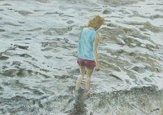 The Wader by graham korn, Pastel Pastel Artwork, Painting People, Korn, Lovers Art, Painting Prints, Graham, Landscape, Portrait, Drawings