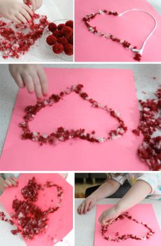 valentine's day tissue paper heart craft