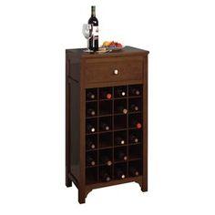 Winsome Wood Sonoma Modular Wine Cabinet