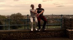 Frantic Assembly's Othello cast members, Kirsty Oswald and Richard James Neale perform their Chair Duet at Alexandra Palace in London. #ChairDuets Challenge:...