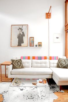 kw: I love the chaise couch to fill in the corner. The art is soulful and simple. The white is nice, but not practical with dogs :)   Design & Chemistry in Seattle Part 1: Brooke
