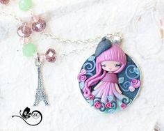 polymer clay necklace/ doll clay/ fimo / zingara creativa/