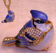 Blue Bird Trinket Box
