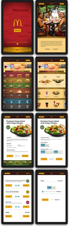 Final Screens: Interactive McDonald's Menu by Matt Volenec, via Behance