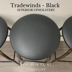Black upholstered barstools Paint Companies, Vegan Leather, Bar Stools, Nautical, Upholstery, Cleaning, Pattern, Painting, Collection