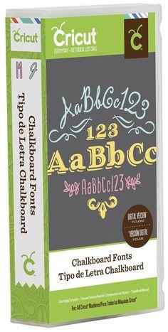 Chalkboard Fonts Cricut Cartridge (2002127)