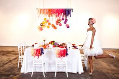 fun and colorful decor.  photo by sean and amanda photography. styling/design by juli vaughn design