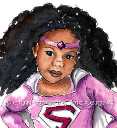 Super-Girl Natural Hair Art