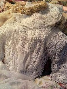 Antique wedding dress,