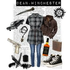gonna make that shirt i freaking love it. Supernatural Inspired Outfits, Supernatural Fashion, Supernatural Cosplay, Supernatural Clothes, Supernatural Memes, Cute Emo Outfits, Edgy Outfits, Urban Outfits, Fashion Outfits