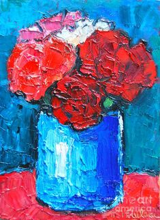 Five Carnations Painting