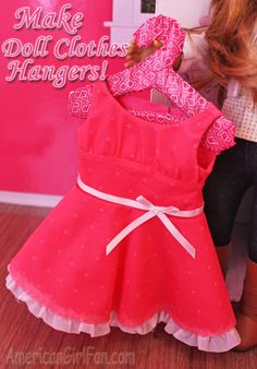 Doll Craft: Make Doll Clothes Hangers (With Free Pattern)!