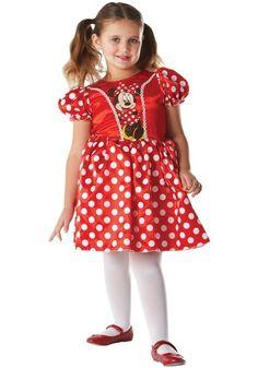 Kostium dziecięcy MINNIE czerwony 5-6 lata