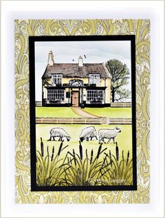 Village Inn – scenic card making with Crafty Individuals – Florence Langley